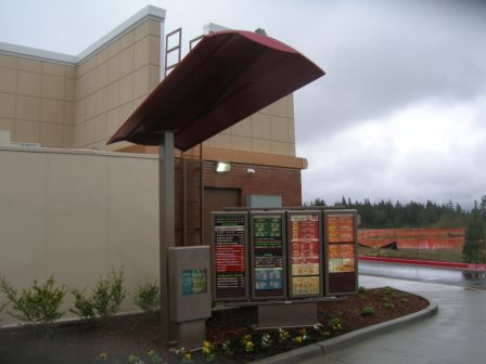 drive thru menu board canopies
