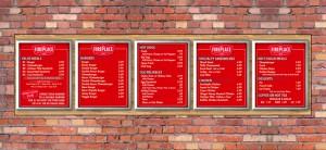 custom backlit menu board