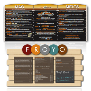 custom indoor menu boards