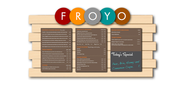 custom magnetic menu board