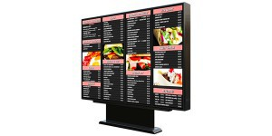 fixed drive thru menu board main unit