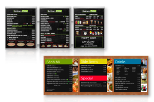 magnetic indoor menu boards