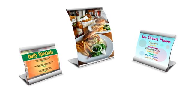 menu board counter displays