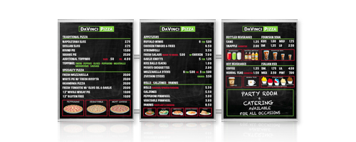metro magnetic menu board series