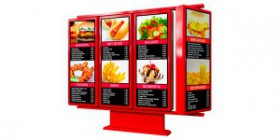 rotating drive thru menu board main unit