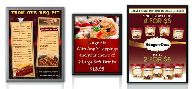 menu board snap frame graphic holders