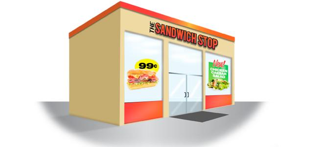 menu board window graphics for restaurants